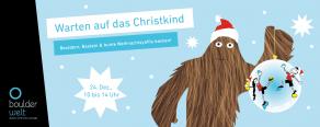 Warten auf das Christkind an Weihnachten in der Boulderwelt Frankfurt mit Bouldern, Basteln und Backen für Kinder
