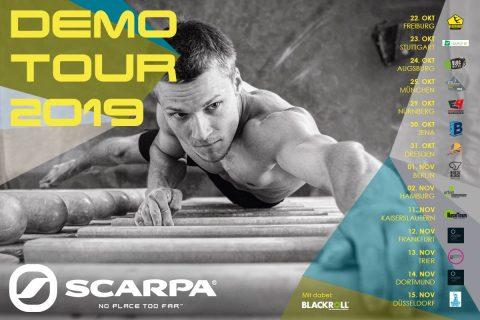 Am 12.11.19 ist die Scarpa Demo Tour zu Gast in der Boulderwelt Frankfurt Ihr könnt 13 verschiedene Kletterschuhe testen.