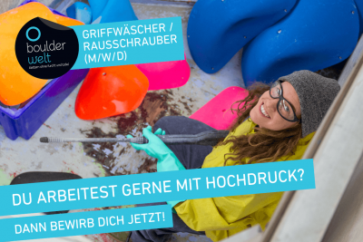 Die Boulderwelt Frankfurt sucht Griffwäscher.