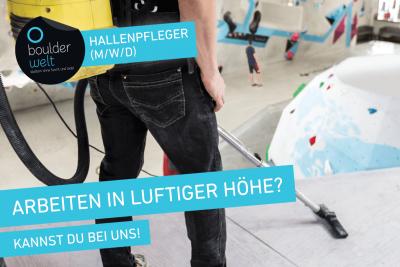 Die Boulderwelt Frankfurt sucht Hallenpfleger