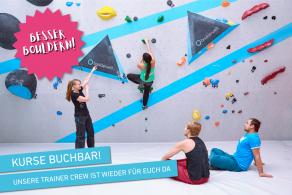 Kursprogramm der Boulderwelt Frankfurt während Corona