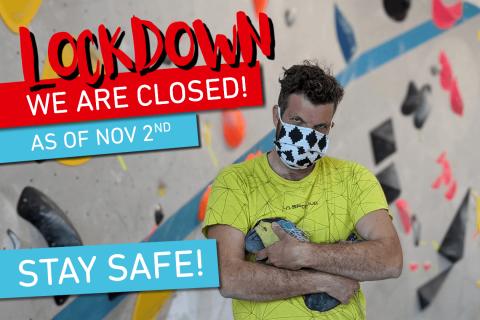 Vorläufige Schließung der Boulderwelt ab 2.11.20 aufgrund des erneuten Lockdowns.