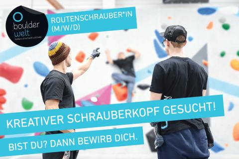 Boulderwelt Frankfurt sucht Routenschrauber