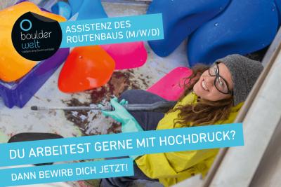 Boulderwelt Frankfurt sucht Assistenz des Routenbaus