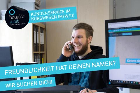 Die Boulderwelt Frankfurt sucht Unterstützung im Kundenservice Kursbüro